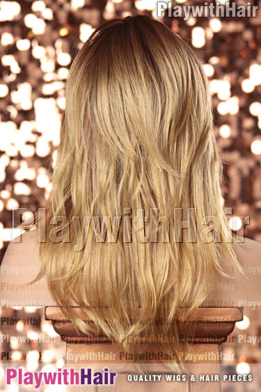 honeycaramel Ombre Dark Brown Root & Light Blonde Tip