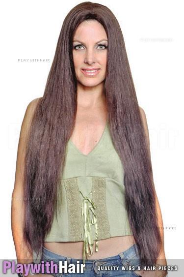 Sepia - Long Showgirl Human Hair Wig
