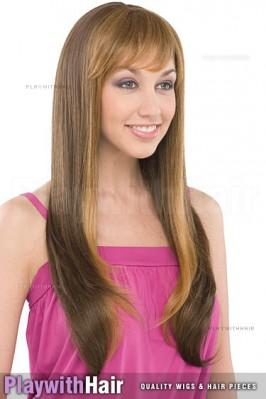 Sepia - Trisha Human Hair Blend Wig