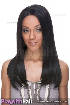 Sepia - Caroline Lace Front Human Hair Blend Wig