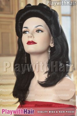 Sepia - 40's Pinup Girl Costume Wig