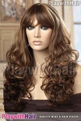 Sepia - Dallas Heat Friendly Synthetic Wig