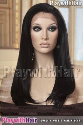 Sepia - Charity Human Hair Blend Wig