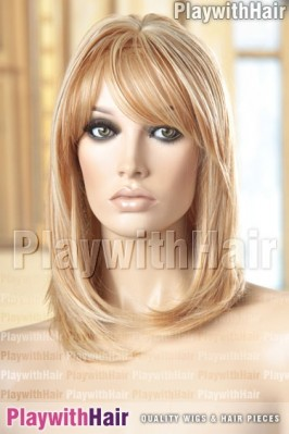 Sepia - Penny Human Hair Blend Wig