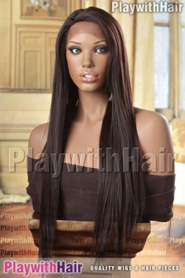 Sepia - Yumi Lace Front Synthetic Wig