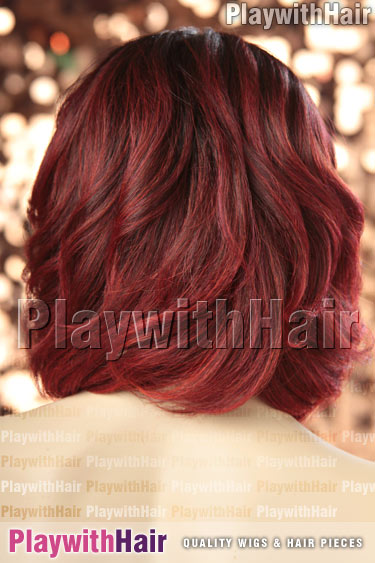 tt4/red6 Brown Red Ombre Tip Balayage