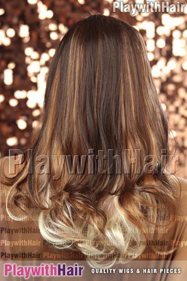 om613/27/4 Ombre Balayage Brown Blonde Tip