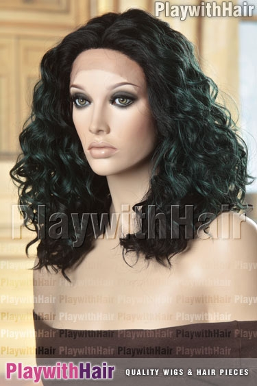 523 Soft Black Green Emerald Mix