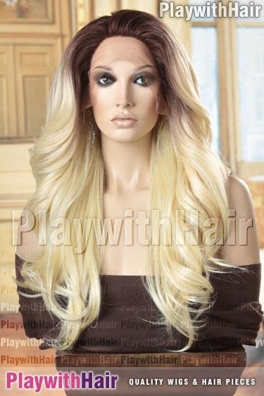 tt4/613 Platinum Blonde Brown Regrowth