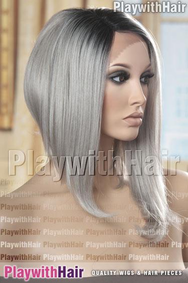 tt1b/darkgrey Grey Gray with Black Roots