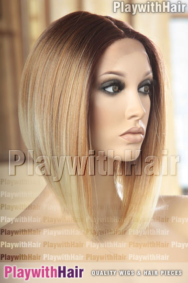 2t27/613 Blonde REGROWTH Darker Roots Ombre Balayage