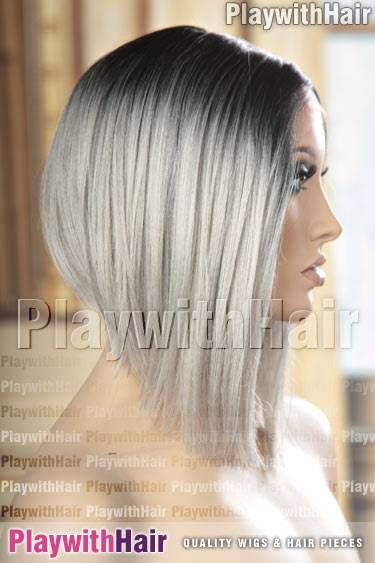 tt1b/darkgrey Grey Gray with Black Roots